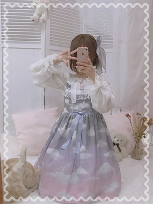taobao agent 【Fairydream spot】National brand lolita Dream inJuly, the story of the cloud, inside the shirt