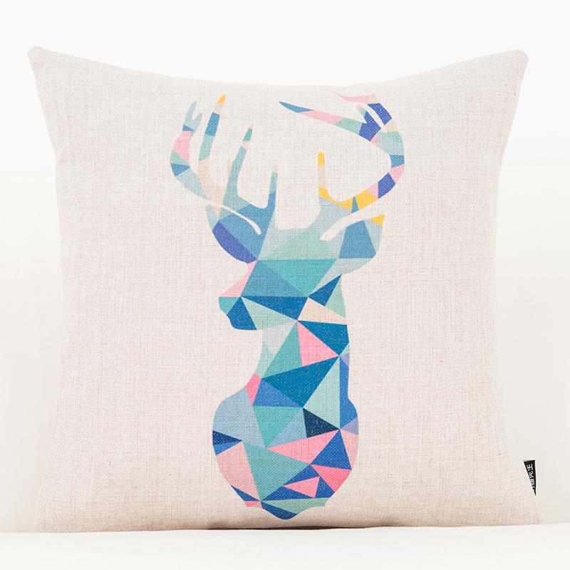 北欧文艺简约ins棉麻抱枕客厅沙发靠垫靠枕办公室护腰靠腰垫枕套