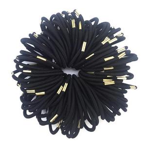 韩版发饰品橡皮筋发绳发圈 百搭耐用黑色扎头发头绳弹力马尾发绳