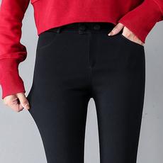 9190#实拍2019春季韩版黑色长裤打底裤女外穿修身显瘦小脚裤女裤