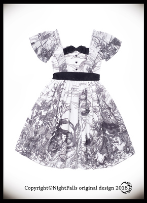 42agent {白夜箱庭} -SIZE 2 white ink - longevity dreams of the old year copy - and the wind girl dress appointment - Taobao