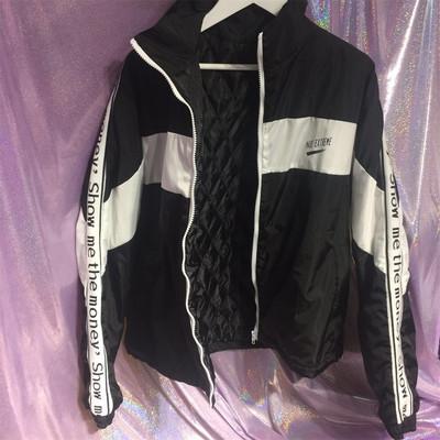 Hàn Quốc studios Hàn Quốc với cùng một lá thư SMTM ribbon khâu áo gió áo khoác 18ss nam và nữ mô hình Áo gió
