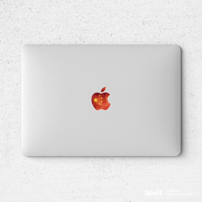 SkinAT MacBook Air Sticker Máy tính xách tay Apple Logo Foil Mac Pro màu máy tính phụ kiện phim