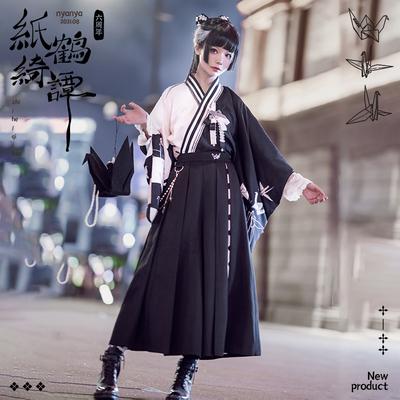 taobao agent 【Deposit】NyaNya paper crane Chitan lolita original Japanese style loose spring and autumn high-waisted wide-leg pants