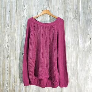 2018 mùa thu và mùa đông mới cổ điển hoang dã cổ tròn dài tay openwork áo len áo len của phụ nữ phần dài đan-Q-4-2