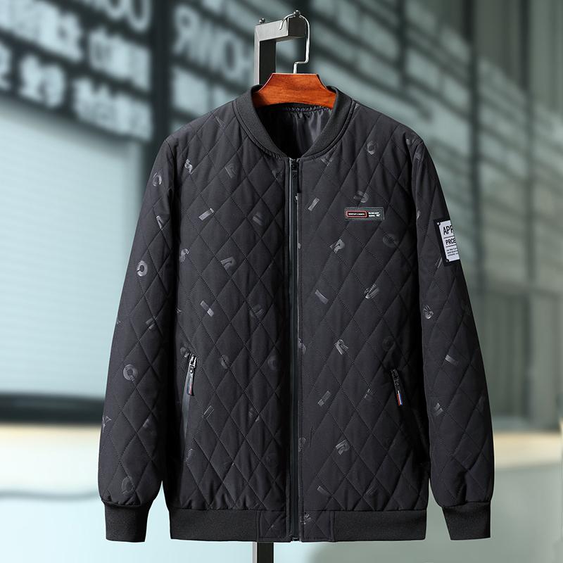 Áo khoác cotton cộng size size size hợp thời trang áo khoác độn béo 2019 mùa đông phiên bản mới của Hàn Quốc theo xu hướng thêm phân bón để tăng áo khoác độn - Đồng phục bóng chày