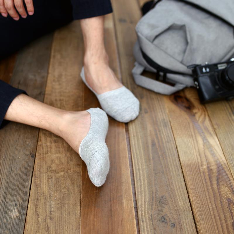 袜子男 短袜隐形袜男纯棉 低帮袜男隐形船袜男浅口夏豆豆鞋袜薄款