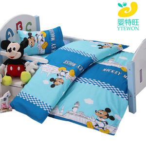 Mẫu giáo chăn ba mảnh bông lõi quilt có thể tháo rời trẻ em nap trường bộ đồ giường bé sáu bộ