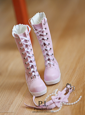 42agent [PL] BJD female doll shoes SD beaded bow DD in the round head boots 3 points 4 points MDD / MSD - Taobao