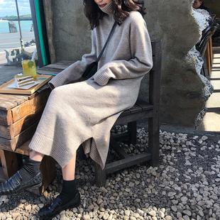 【克重770g】宽松慵懒风高领连衣裙