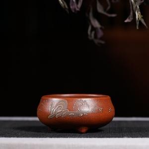 Đài Loan trở lại cũ màu tím cát chậu hoa tất cả làm bằng tay cổ tím bùn sơn chậu hoa và thịt chậu nhỏ đặc biệt cung cấp
