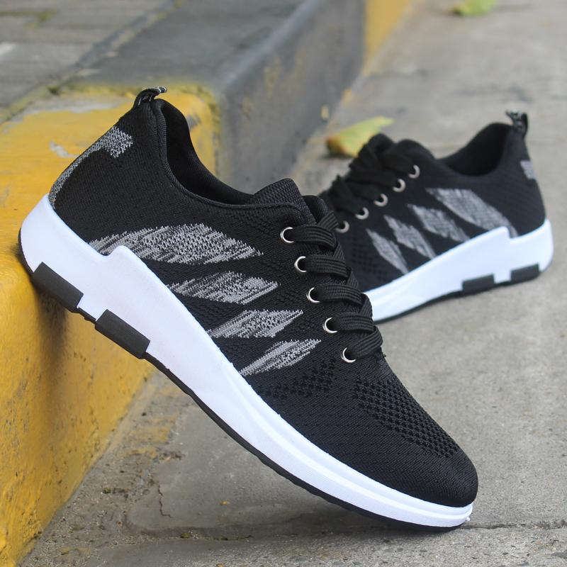 New lưới giày nam hàng ngày người đàn ông giản dị của giày Hàn Quốc tấm giày thời trang dệt giày trọng lượng nhẹ thở giày chạy duy nhất
