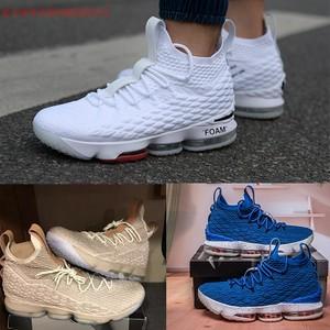 James 15 thế hệ đệm không khí giày bóng rổ hiệp sĩ doanh của phụ nữ giày màu đen và trắng bạc hà khởi động chiến đấu Zhan Huang cao của người đàn ông giày