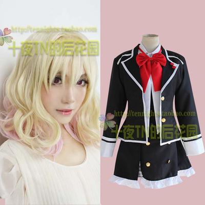 taobao agent Ten Nights TN- Devil Lovers Yui Komori COS Wig Clothing Clothes Uniform Free Headwear