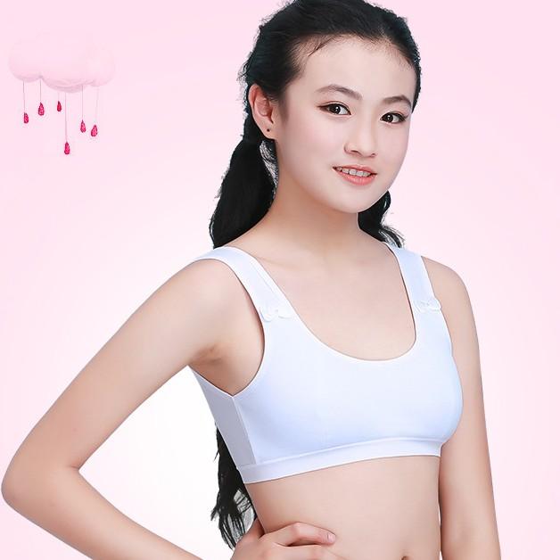 Cô gái áo ngực phát triển thời gian tiểu học và trung học sinh viên vest cotton phần mỏng không có vòng thép không sponge cô gái tuổi teen đồ lót