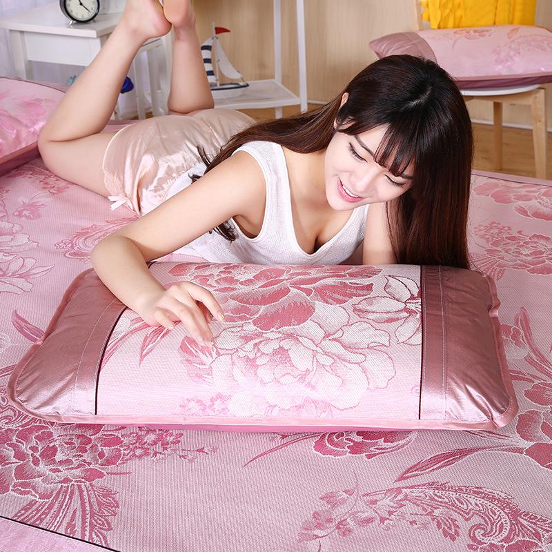 夏季凉席冰丝席枕套成人单人夏天枕头套信封式枕芯套一对装新品_领取10元淘宝优惠券