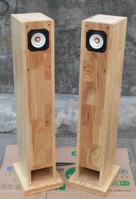 Charmant Custom Solid Wood Cabinet Column 45 6.5 8 Inch Full Range Speakers Tqwt  Empty