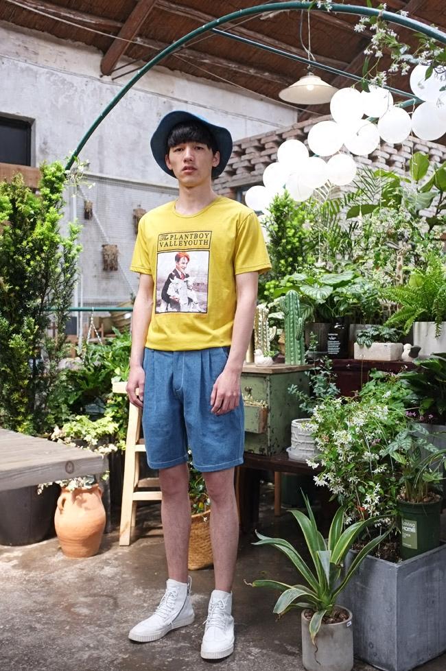 抱羊羔の少年 复古印花潮流修身T恤 山谷少年独立设计师男装