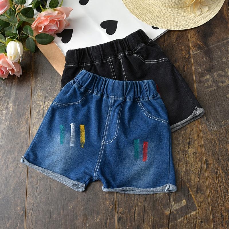 2018 mùa hè mới cô gái quần short denim mặc quần áo trẻ em trong trẻ em trẻ em Hàn Quốc cô gái bé gái nóng quần