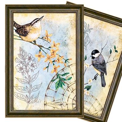 美式乡村装饰画 客厅壁画 餐厅卧室田园花鸟挂画