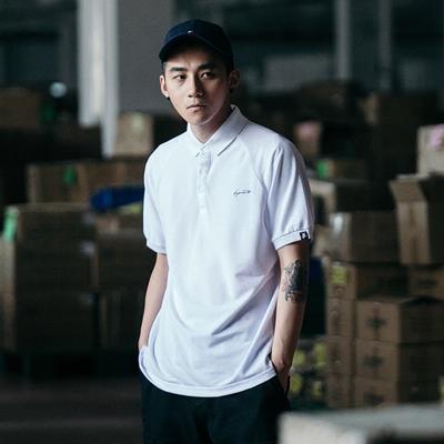 BDCT自制 纯色潮牌POLO衫男短袖2018新款夏天港风有领翻领潮男T恤