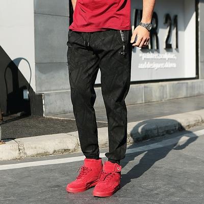 Lớn kích thước của nam giới thể thao giản dị chín quần của nam giới quần phần mỏng lỏng chất béo chất béo cộng với phân bón cộng với mùa hè Crop Jeans