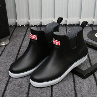 Сапоги мужской волна мода скольжение клей обувной зимой вельвет клей ботинок сапоги низкий короткие трубки водонепроницаемый обувной теплую обувь