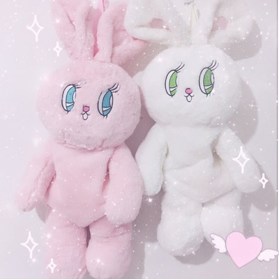 taobao agent Soft sister cute plush rabbit doll bag big eyes embroidery backpack cartoon backpack female cos comic exhibition