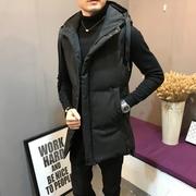 Mùa thu và mùa đông dài xuống bông vest nam Hàn Quốc phiên bản của xu hướng của áo khoác giản dị đẹp trai vest vest gi lê áo gi lê vai