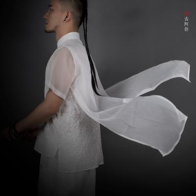 [古 阿 新] đi bộ cotton siêu mỏng mùa hè trắng gió Của Trung Quốc khóa cổ điển nổi sợi thêu hoa ngắn tay áo T áo tommy Áo phông ngắn