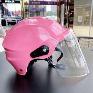 摩托车头盔女夏季头盔男夏季电动车头盔女四季骑车全盔成人新款