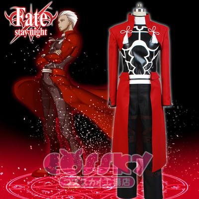 taobao agent 【cossky】Fate Fate Night Heroic Spirit Wei Gong Shirou cos Red A cosplay costume wig