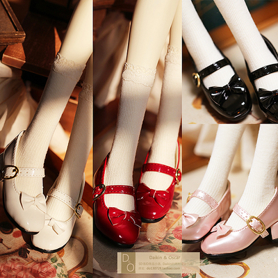 taobao agent DO spot bjd3 points doll shoes sd10 sd13 women's shoes patent leather shoes British bow buckle ladies shoes
