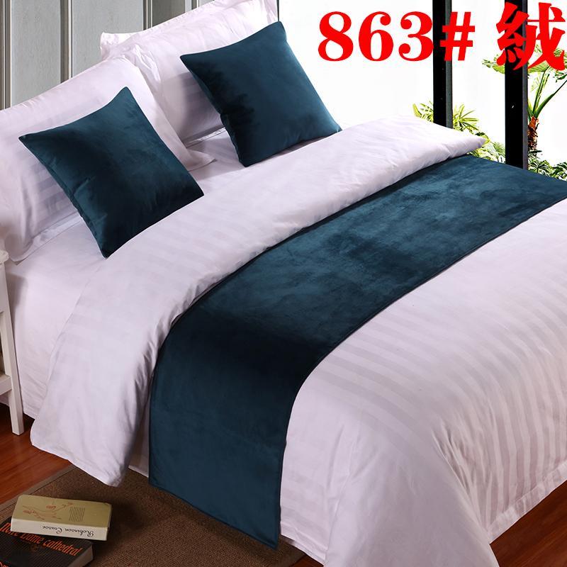 Bộ đồ giường khách sạn vải lanh khách sạn cao cấp màu rắn giường đuôi khăn khách sạn giường ngủ cờ đuôi pad bảng cờ giường - Trải giường