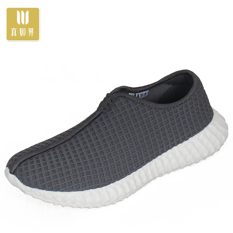 Monk shoes spring and autumn new popcorn mens shoes monk Zen air breathing monk shoes Jushi cloth shoes leisure