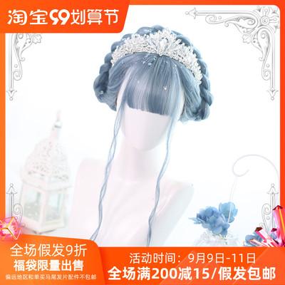 taobao agent |Boss House | Harajuku soft girl Lolita water ripple curly hair