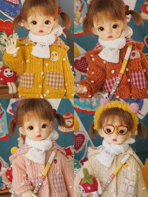 taobao agent Sold out without replenishment Spot BJD 6 points 4 points 1/6 Men and women doll clothes winter knitted jacket tops