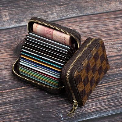 精致高档卡包女式欧美新款多卡位防消磁超薄大容量小巧装卡片包