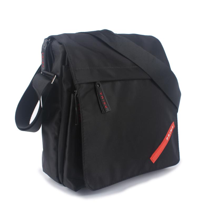 Phần dọc đơn giản không thấm nước Oxford vải túi nam túi đeo vai túi messenger màu đen vuông mang túi đặc biệt - Túi của con người