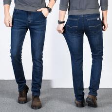 D实拍2018弹力新款牛仔裤男春夏修身直筒休闲男牛仔长裤子D1761