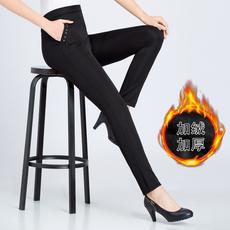 麦子MZ 妈妈裤子秋冬长裤高腰女裤打底裤老年人外穿加绒加厚