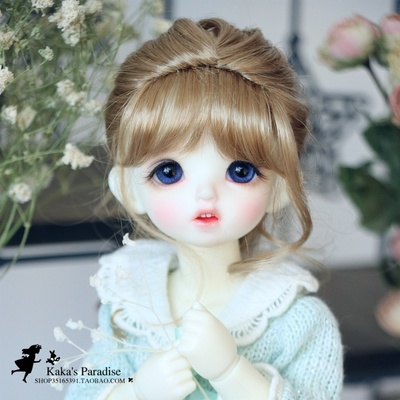 taobao agent KAKA BJD doll 46 points Mori style single ponytail fishbone braid imitation mohair wig GEM/XAGA