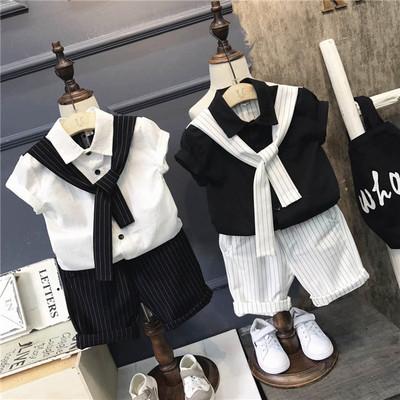 2017新款男童夏装4儿童装男装套装3周岁半5小男孩子1宝宝0衣服2潮