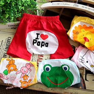 Mùa hè quần áo trẻ em bé quần bé trai và bé gái quần short bé trẻ em cotton năm quần phim hoạt hình lớn PP quần
