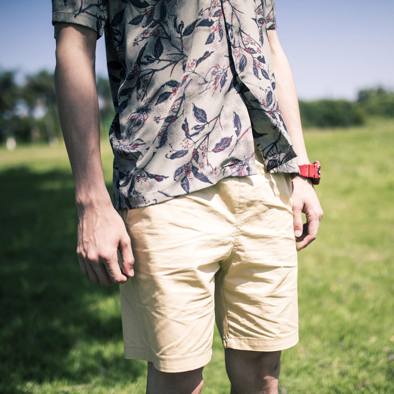 Mùa hè nguyên bản quần short siêu nóng quần nam bãi biển cotton rộng quần yếm quần short nam giản dị - Quần short