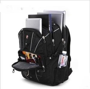 正品軍刀包瑞士雙肩包男士背包女書包商務大容量旅行包電腦包17寸