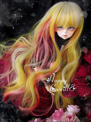 taobao agent BJD/SD 4 points 3 points doll wig hair/high temperature silk dream micro curly hair canary color 1/4, 1/3