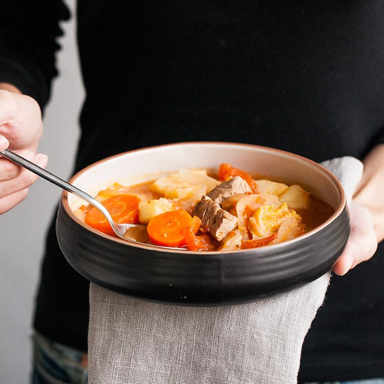 朵颐创意餐具陶瓷汤碗大面碗搅拌碗深口菜碗浅口盆微波炉可用菜盘