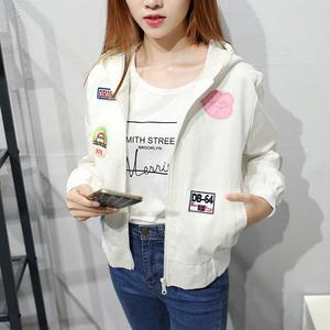 现货实拍2017秋季新款韩版飞行员夹克衫女学生短外套宽松棒球服潮