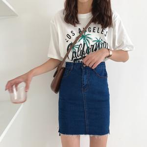 8803#(實拍 實價)2018夏季新款牛仔包臀裙短裙